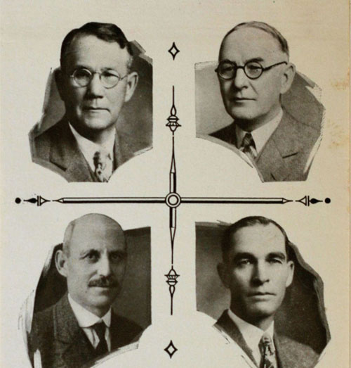 historic photograph featuring headshots of 4 Timberland Bank founders